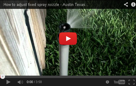 How to adjust fixed spray nozzle